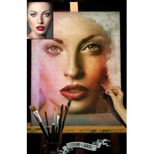 Brush painting mockup - watercolor paint mockup