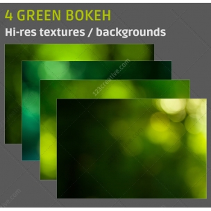 4 Green bokeh backgrounds