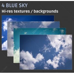 4 Blue sky textures