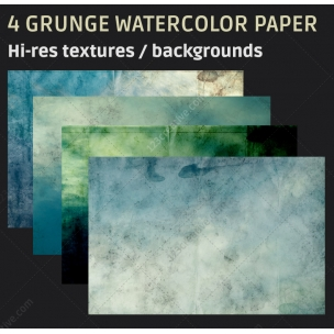 4 Grunge watercolor paper texture backgrounds