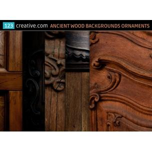 5 Ancient wood backgrounds ornaments