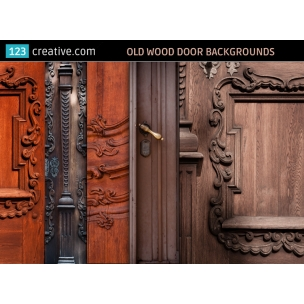 5 Old wood door backgrounds