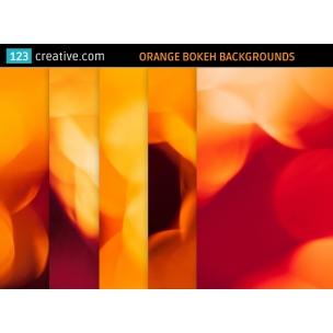 5 Orange bokeh backgrounds