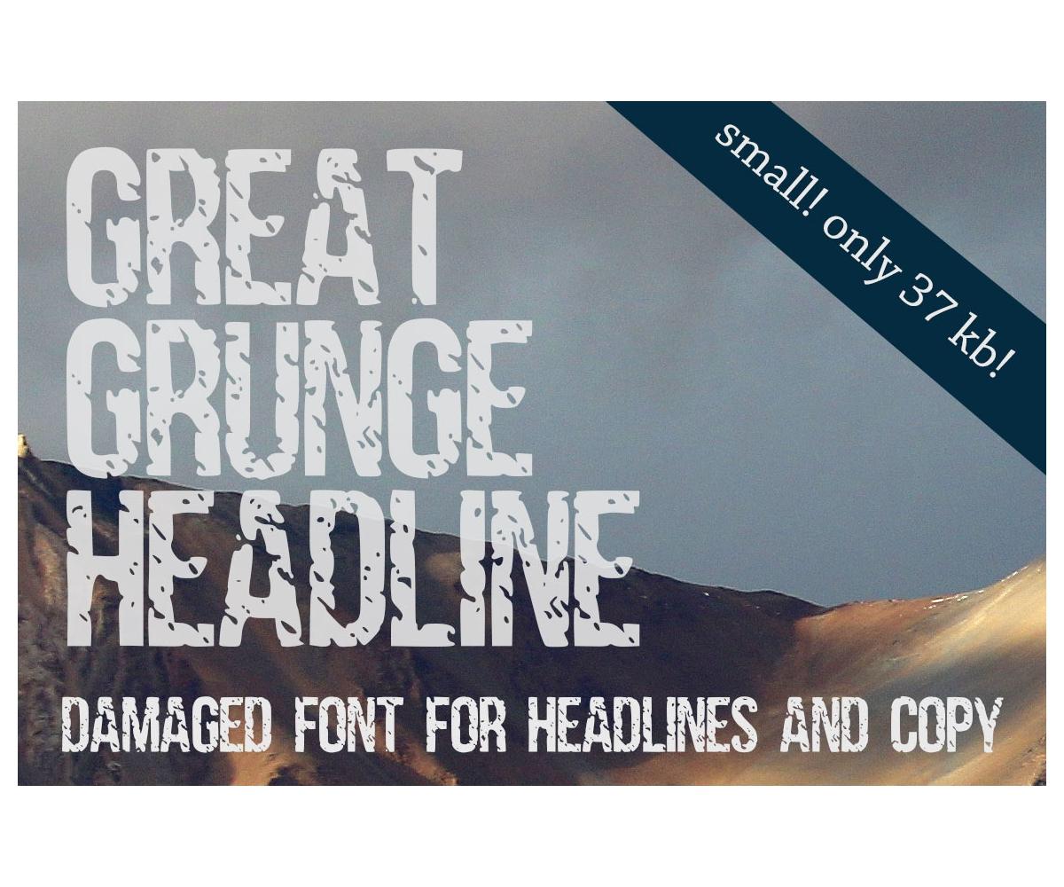 Distressed damaged condensed headline font callled Dark ...