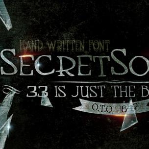 Secret Society - font family