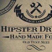hipster font for website