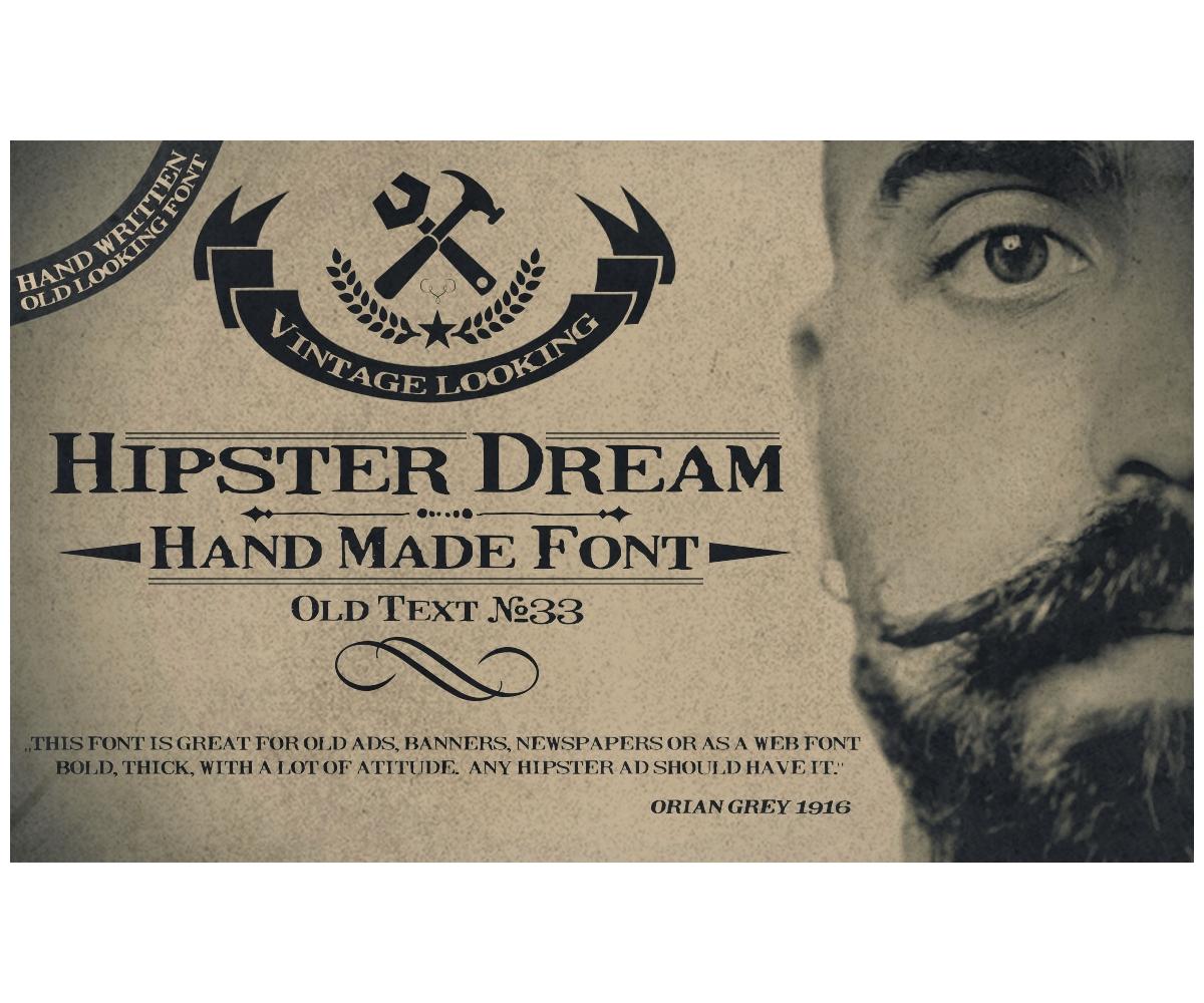 hipster font for poster  flyer  website  old times  serif