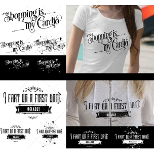 7 Typography T-shirt design templates for girls with attitude