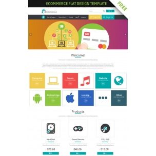 FREE eCommerce flat design template