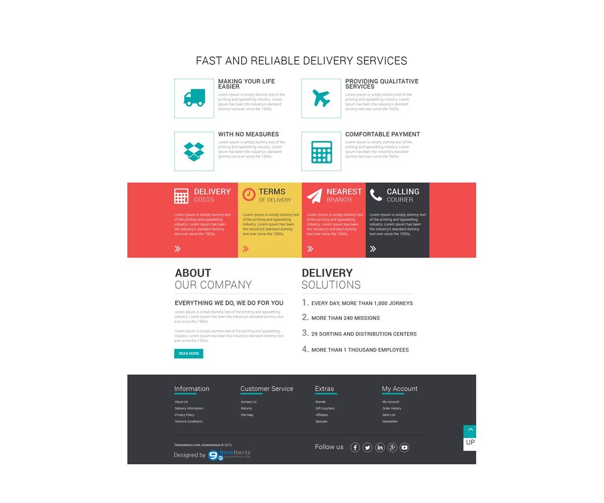 free ecommerce flat design template