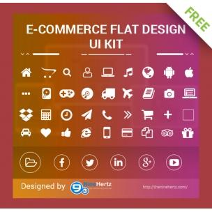 FREE eCommerce flat UI Kit