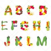 Happy alphabet vectors - kids colorful alphabet letters