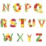 colorful alphabet letters, fun alphabet graphics vector