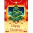 Vector Christmas card template, Christmas tree card vector