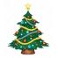 cartoon Christmas tree vector