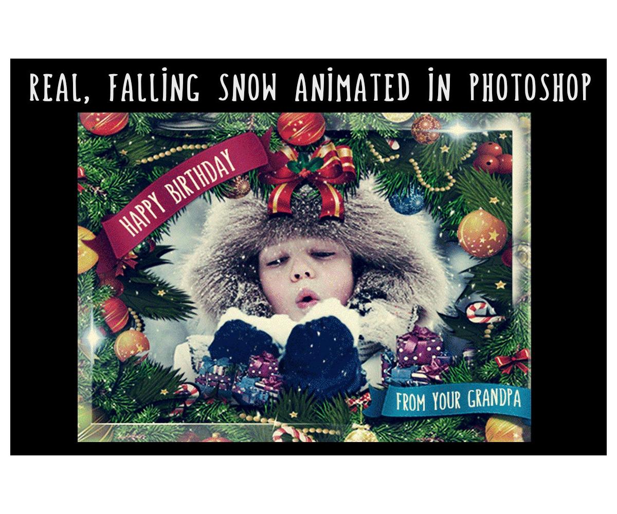 Animated Christmas Card Template Gif Editable Greeting Ecard With