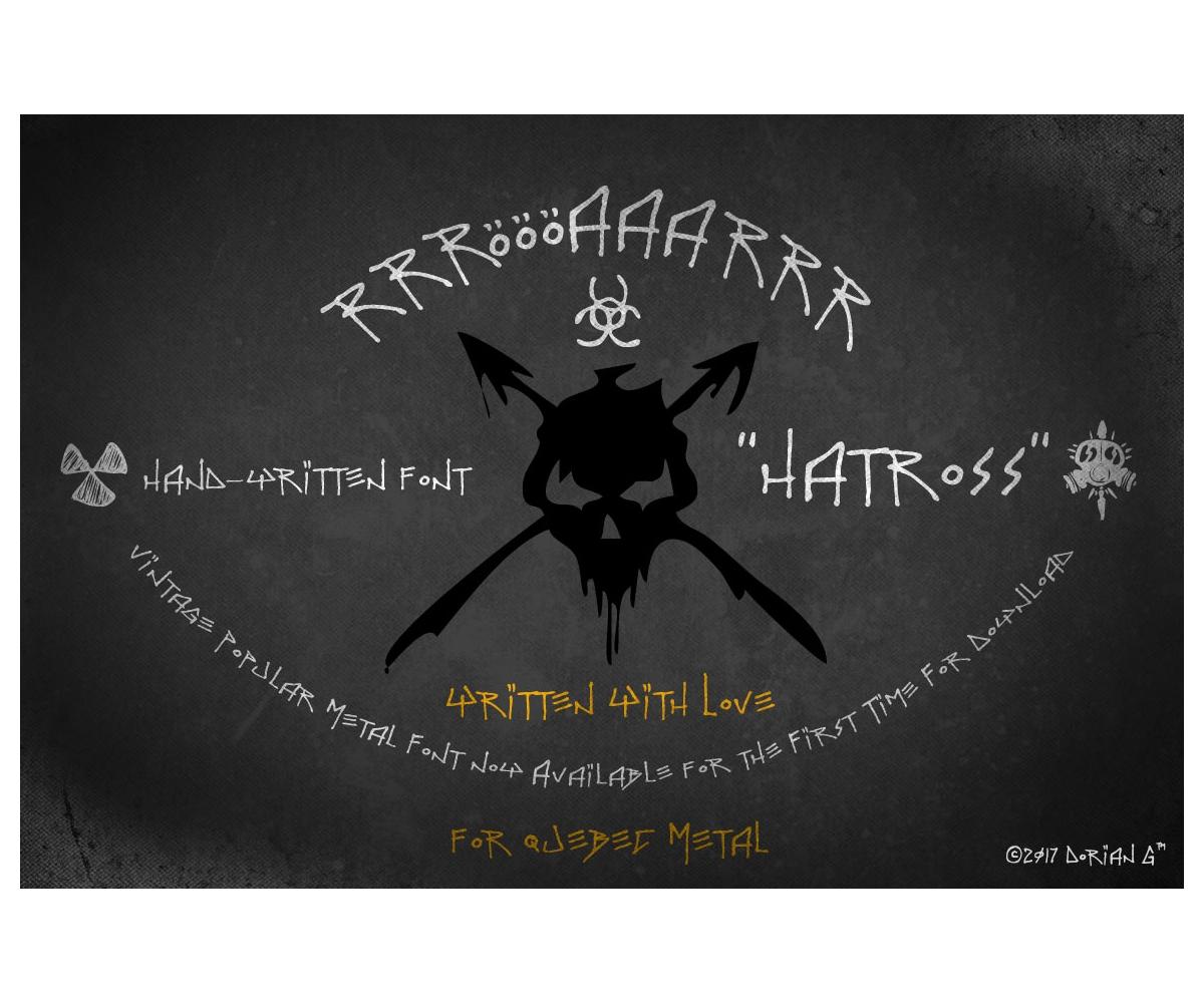 Heavy metal font - Hatross. Black metal font typeface ...