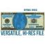 high resolution dollar bill mockup template, editable dollar bill template