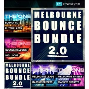 Melbourne Bounce Bundle 2.0 - Massive presets, MIDI loops, FL Studio template