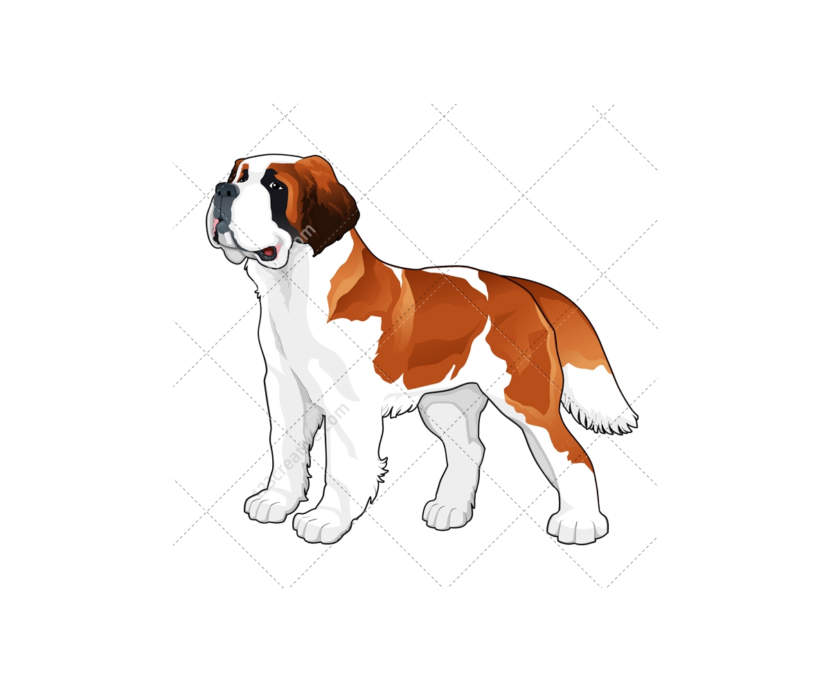 Realistic Dog Vector Pack Animal Vector Graphics