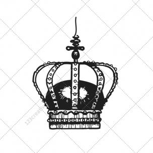 Royal crown vector pack
