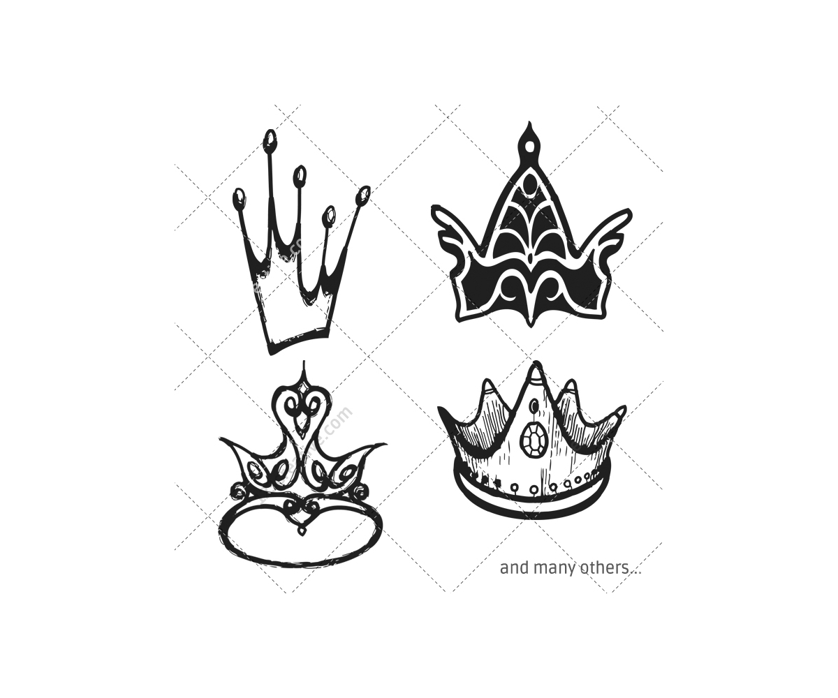 royal crown vector pack