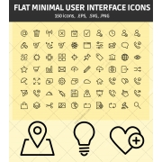 minimal user interface icons, user interface icon set