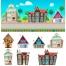 cartoon house vector illustration, cartoon house vector pack