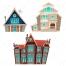haunted house vector, ancient villa vector
