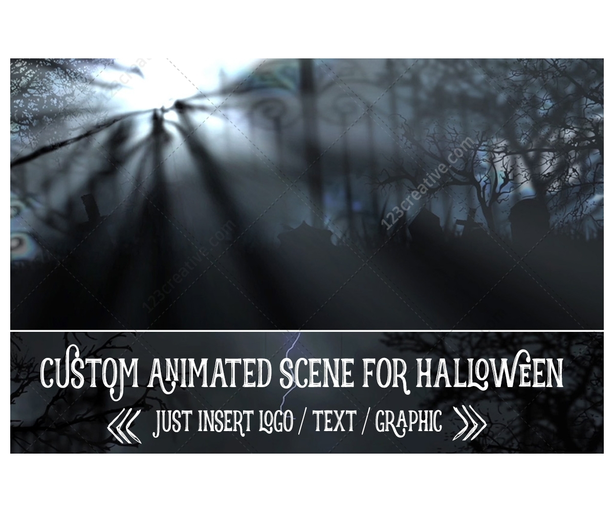 After Effects template - Horror Halloween intro animation, scary ...