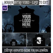 After Effects template, Horror Halloween animation template
