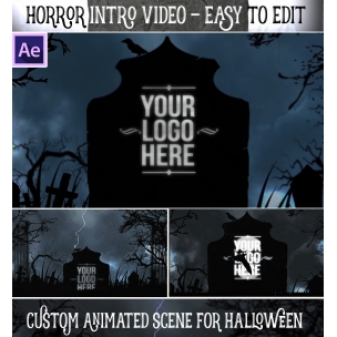 After Effects template - Horror Halloween intro animation