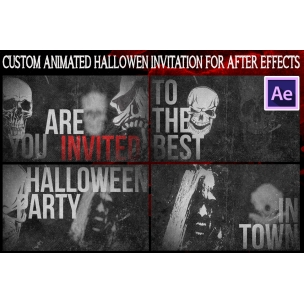 After Effects animation - Halloween party invitation video template