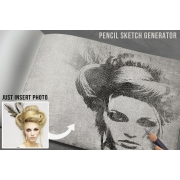 pencil sketch psd mockup, pencil sketch mockup template