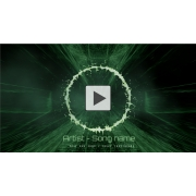 Green ayahuasca ring music visualizer for Darkpsy, psycore, Dark ambient producers