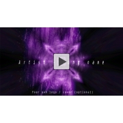 Purple holographic strobing tunnel music visualizer for hitech psytrance techno producers