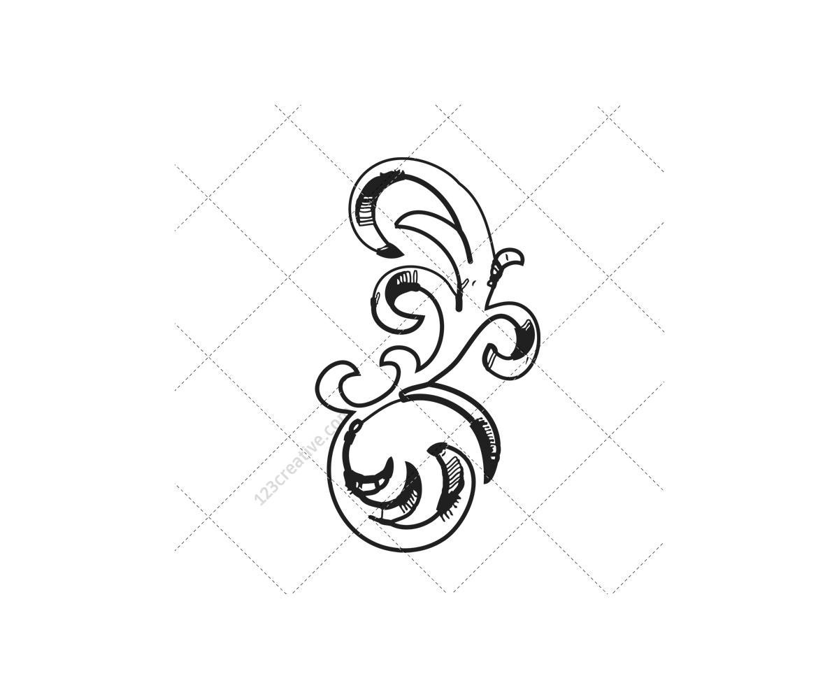 baroque ornaments vector pack