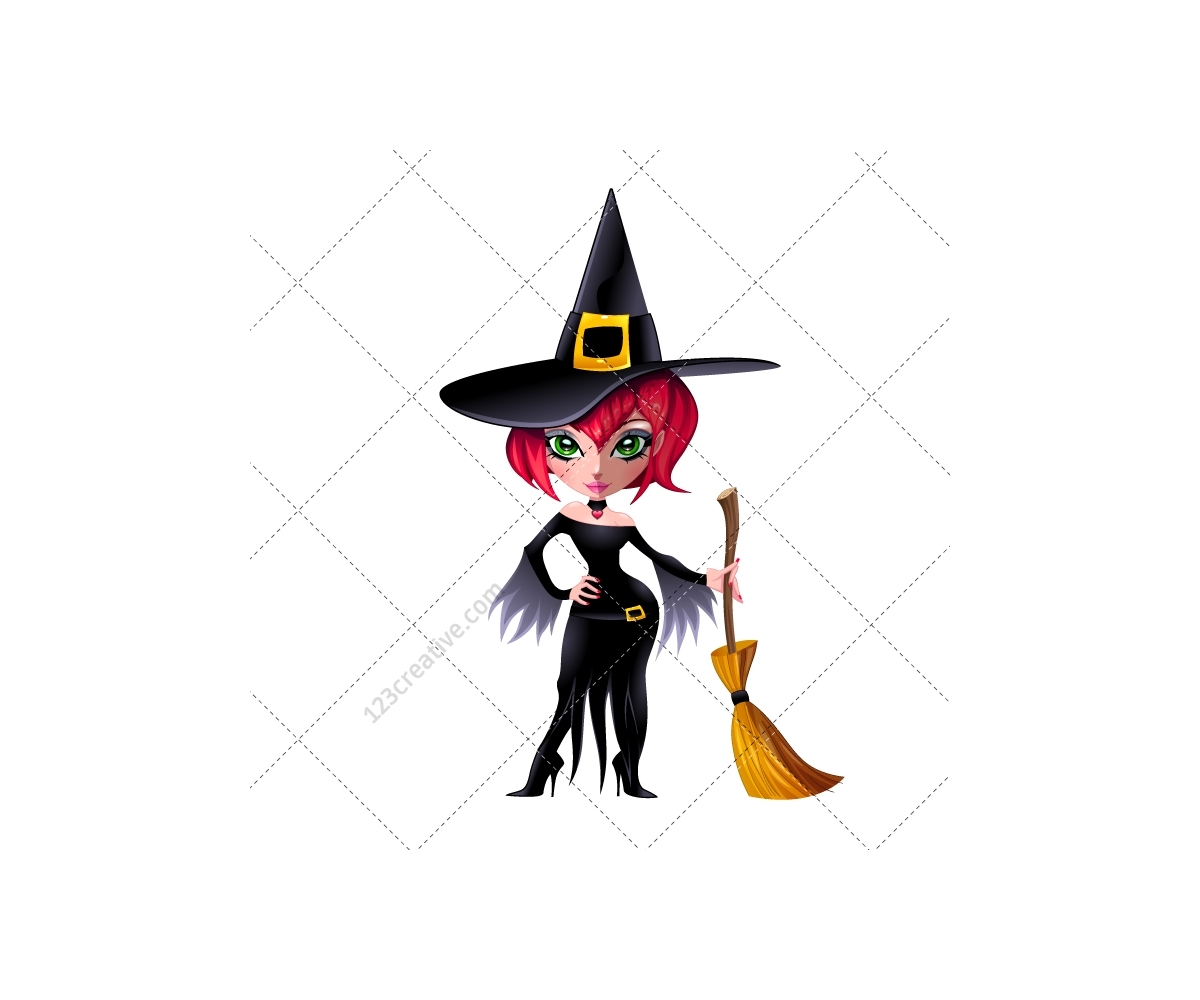 Halloween witches illustration - witch vector, magic ...