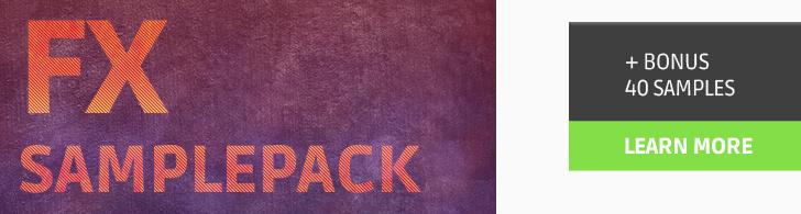 Including 40 Progressive samples from FX Sample pack
