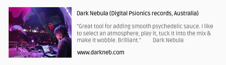 Dark Nebula psytrance producer testimonial G-Sonique Psychedelic FX6000 V1
