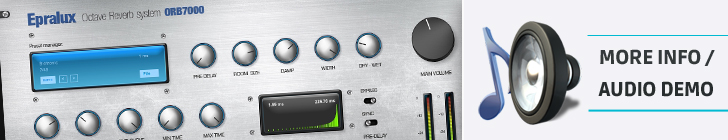 Epralux ORB7000 - octave reverb system - progressive VST plugin