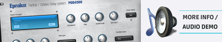 Epralux POD4500 - Particle octaved delay - progressive VST plugin