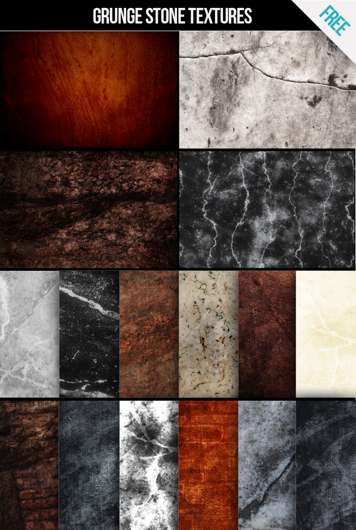 Download Free Grunge stone textures for commercial and personal use