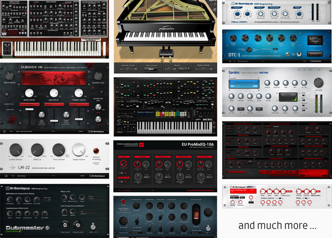 Tons of virtual instruments, audio plug-ins and effects included