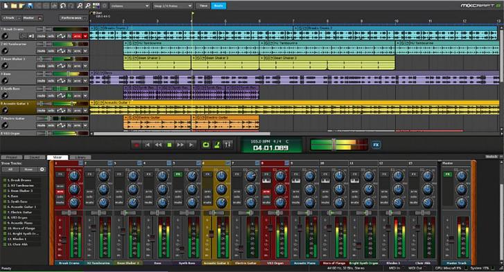 Mixcraft 8 Recording studio DAW